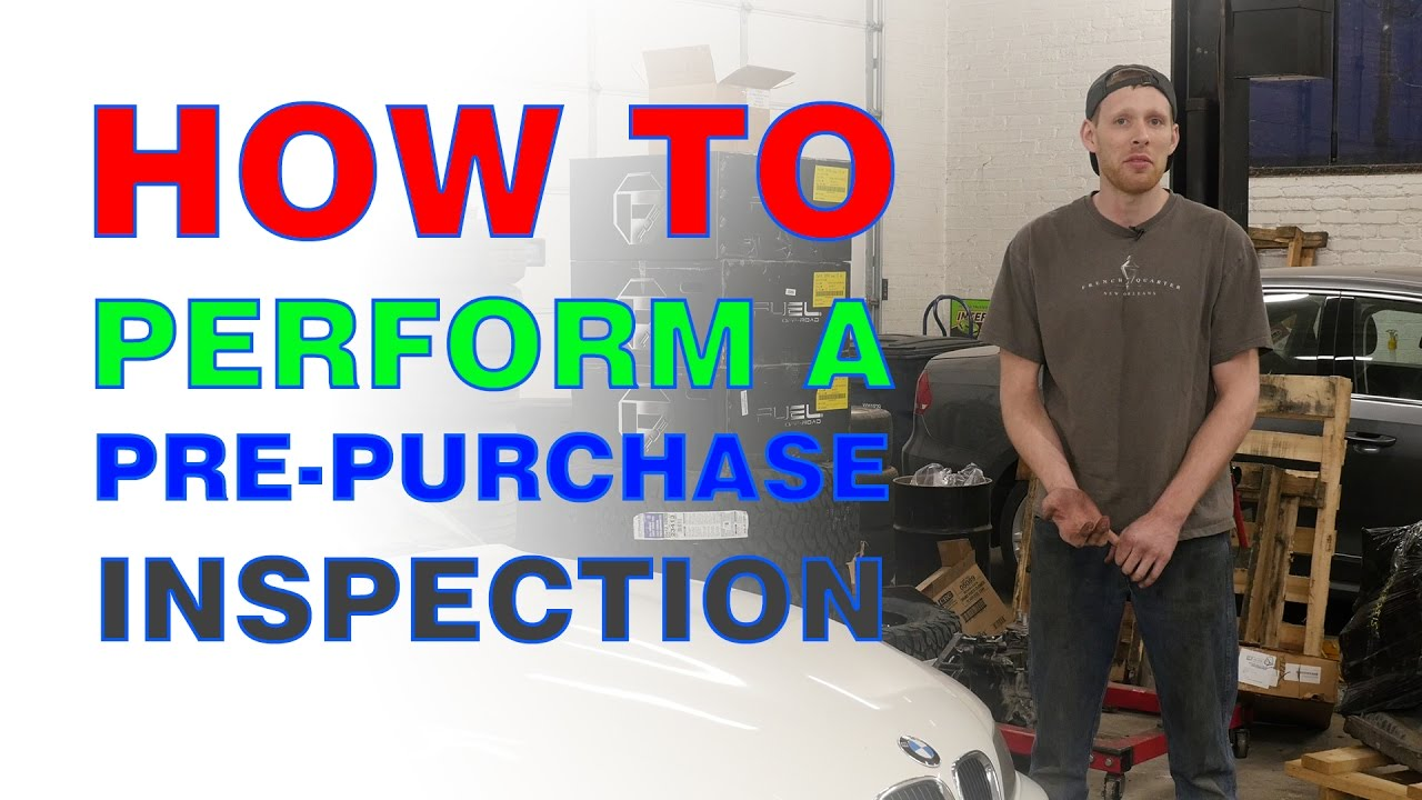 buying a used car how to perform a pre purchase inspection youtube. Black Bedroom Furniture Sets. Home Design Ideas