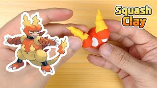 Sculpting Magmar Fire-type Pokémon Clay art