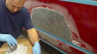 Ремонт и покраска автомобиля. Шпатлевка кузова