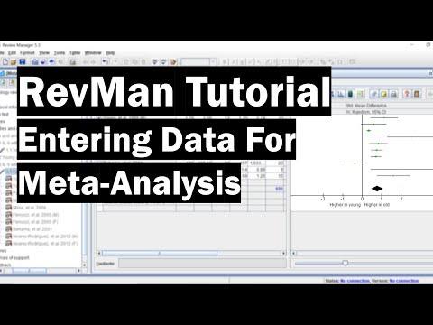 RevMan Tutorial - Entering Data For Meta-Analysis - YouTube