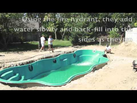 Inground fiberglass pool build pools inc youtube - Building a swimming pool yourself ...