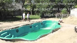 Inground Fiberglass Pool Build - Pools Inc.