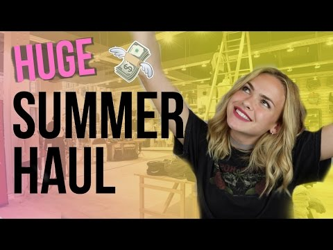 HUGE Summer Clothing Haul! Brandy Melville, F21, Target, Kylie Cosmetics// Summer Mckeen