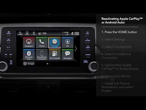 How to Reactivate Apple CarPlay™ or Android Auto™ After Disabling on the  2018 Honda Accord