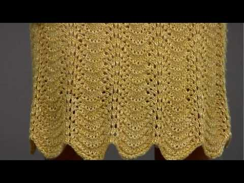 6 Feather And Fan Dress Vogue Knitting Springsummer 2009 Youtube