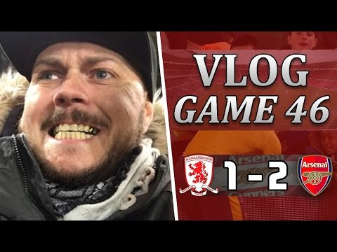 Middlesbrough 1 v 2 Arsenal | Three Points In The Bag | Matchday Vlog | Game 46