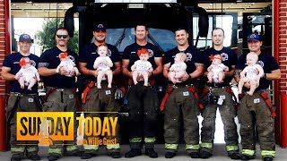 These 7 Firefighters All Become Fathers Within 15 Months Of Each Other Sunday TODAY