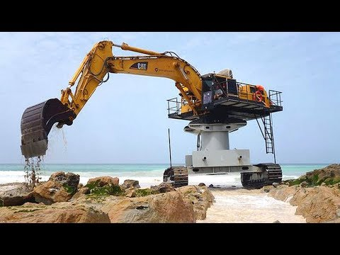 Extreme Dangerous Excavator Heavy Equipment Operator Skill   Amazing Modern Construction Machinery