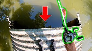 FISHING IN GIANT CREEK TUNNELS!!! (Surprise Catch)