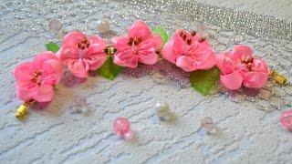 Браслет с цветочками. Мастер-класс / Bracelet with flowers. Master class