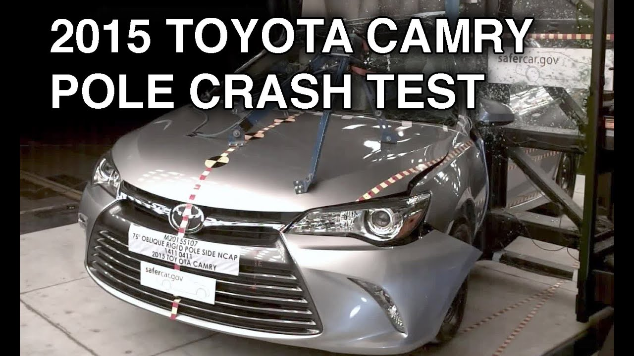 2015 toyota camry pole crash test youtube. Black Bedroom Furniture Sets. Home Design Ideas