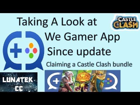 Wegamers app from IGG since the update. claiming a reward bundle  Castle Clash
