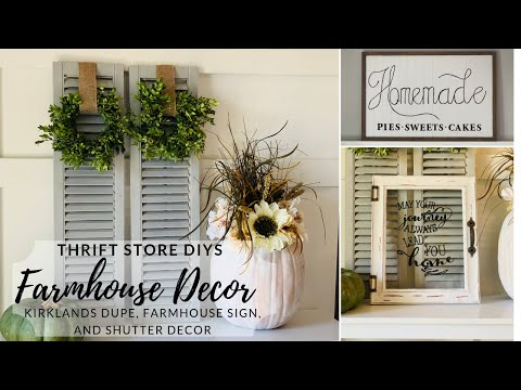 Thrift Store Farmhouse Makeovers Trash to Treasure DIYs Farmhouse DIY Decor
