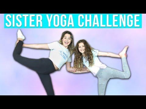Sister Yoga Challenge | Hayley LeBlanc & Annie LeBlanc