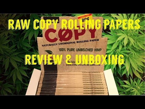 full-melt-fusion's---raw-copy-king-size-slime-rolling-papers-review-&-unboxing-#rawlife-#rawlife