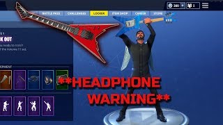 Fortnite Rock Out Emote **EXTREME BASS BOOSTED**