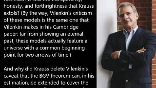 William Lane Craig: Evidence Lawrence Krauss Misrepresents Alexander Vilenkin