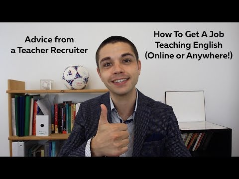 Advice From a Teacher Recruiter - How To Get A Job Teaching English (Online or Anywhere!) - Amerikos