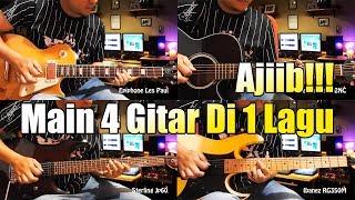 WOOOOW Main 4 Gitar Dalam 1 Lagu!!! Armada - Asal Kau Bahagia Cover Gitar By Sobat P 🎸