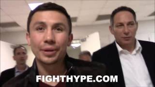 GENNADY GOLOVKIN REACTS TO CANELO ALVAREZ