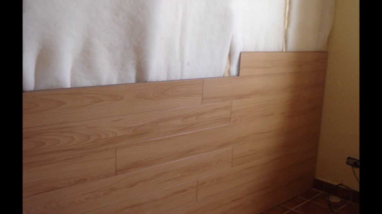 Piso Laminado En Muro Hard Co 8mm Biselado Youtube