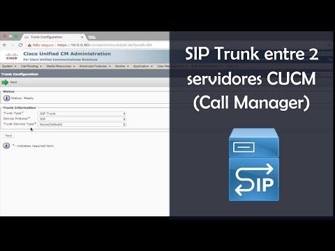 SIP Trunk Entre 2 Servidores CUCM