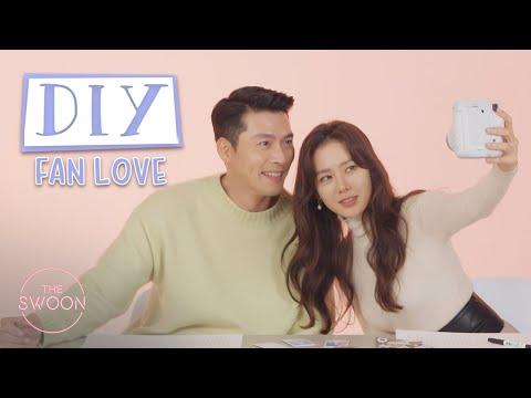Hyun Bin and Son Ye-jin decorate calendars for fans   DIY Fan Love [ENG SUB]