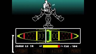 Reboot REVENGE The Unseen Ending ACT2 Great Papyrus Battle Demo Undertale Fangame