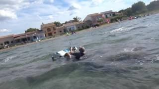 Mallorca kitesurfing school young student edmkpollensa third hour kite lessons
