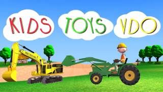 Excavator At Work for Children | Dump Trucks for Kids | Construction Vehicles for children