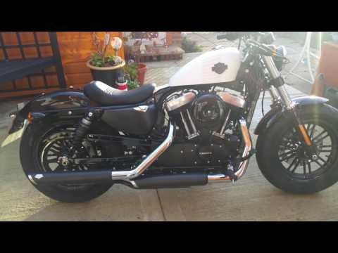Very LOUD Harley davidson XL1200X sportster 48 2017 (with ...