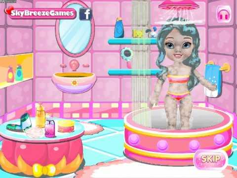Холодное сердце: малышка Эльза в ванной / Baby Elsa Bathing - прохождение
