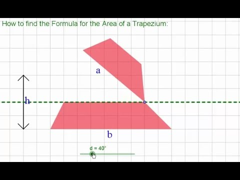 How to find the Formula for the Area of a Trapezoid (Trapezium)