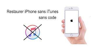 Comment restaurer l'iPhone sans iTunes sans code - solution 2017