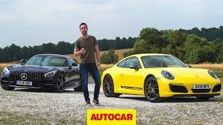 2018 Mercedes-AMG GT C vs Porsche 911 Carrera T | Autocar