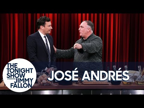 Chef José Andrés Teaches Jimmy to Make Tortilla Española