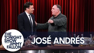 Chef José Andrés Teaches Jimmy to Make Tortilla Española