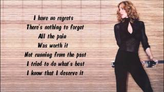 Madonna - I Deserve It Karaoke / Instrumental with lyrics on screen
