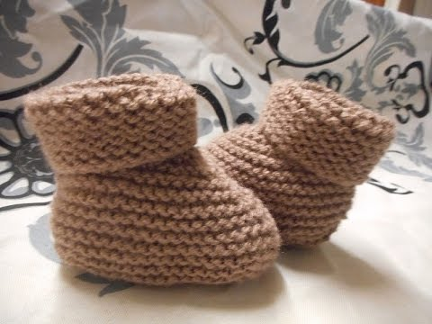 tuto tricot chaussons pour b b youtube. Black Bedroom Furniture Sets. Home Design Ideas