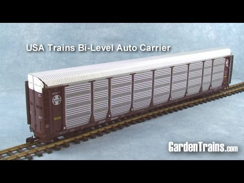Garden Trains: UnBoxing – USA Trains Bi-Level Auto Carrier : Large Scale Garden Railroad