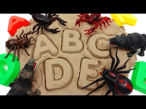 Thumbnail: Learn Names of Scary Animals with Kinetic Sand~ Do You Know Them All?
