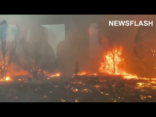 Firefighters In California Fire Inferno