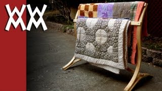 Make a bent-wood quilt rack