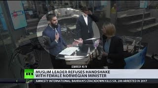 Muslim leader refuses handshake with female minister