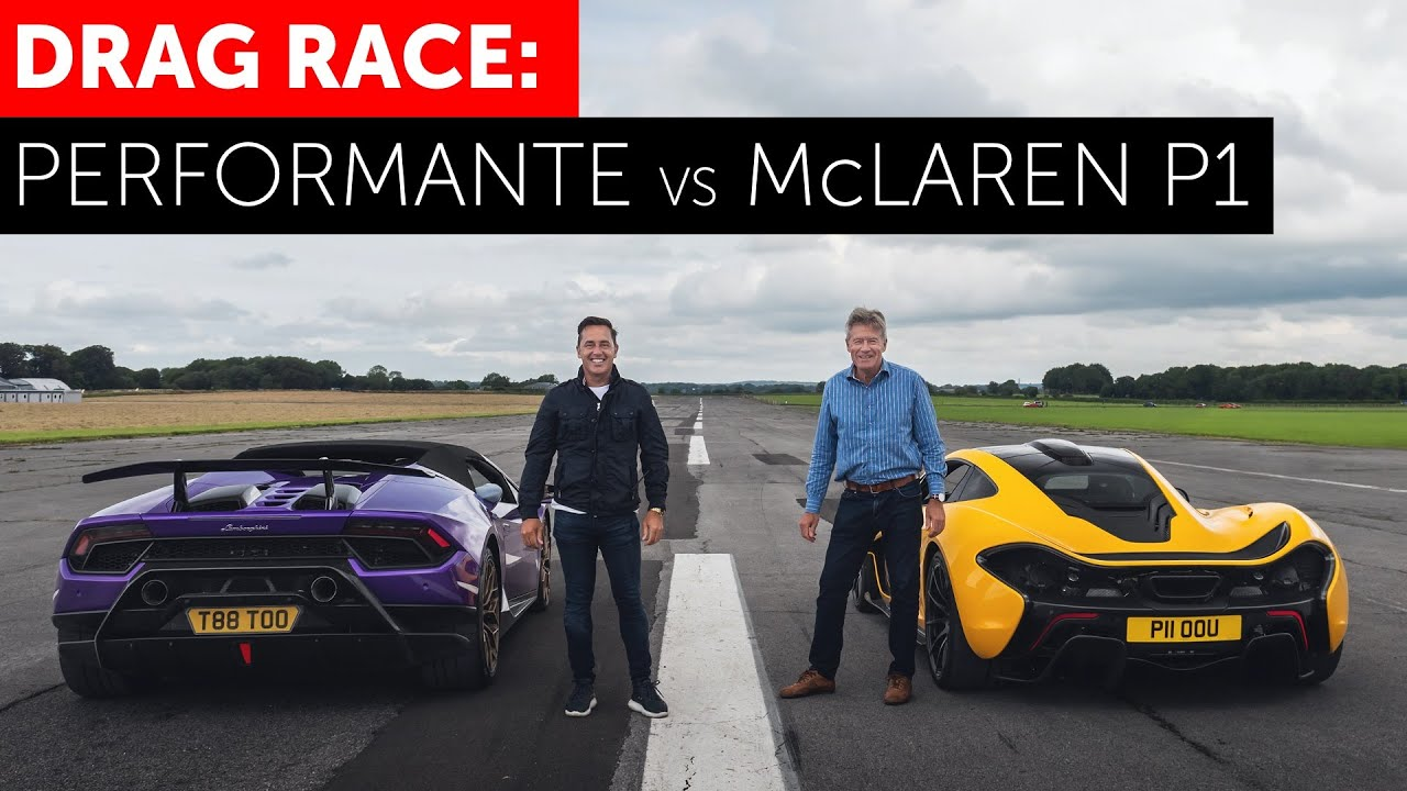 Download DRAG RACE! McLaren P1 vs Lamborghini Huracan Performante Spyder
