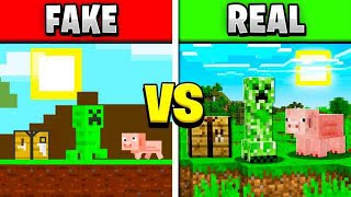 PLAYING FAKE MINECRAFT GAMES! FAKE vs REAL MINECRAFT!