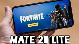 Fortnite on the Huawei mate 20 lite!!!