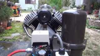 100V、二気筒三馬力コンプレッサー改(アフタークーラー&エアードライヤ付き、静音仕様) コンプレッサー 検索動画 30