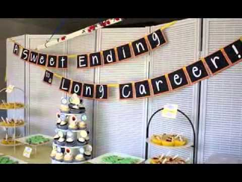 retirement party decorating ideas youtube