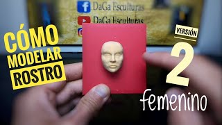 COMO MODELAR ROSTRO FEMENINO En PORCELANA FRÍA. How To Make Female Face In Clay